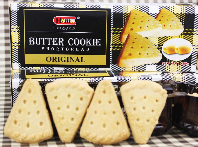 hamu-三角形奶油酥饼干160g/盒