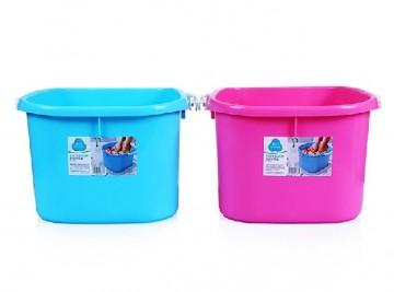 茶花泡脚桶 加厚加高养身按摩洗脚桶塑料足疗桶0351
