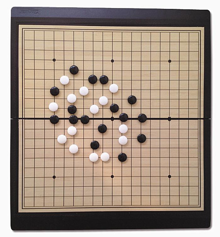 悠想大磁石围棋五子棋折叠便携式益智棋盘图片