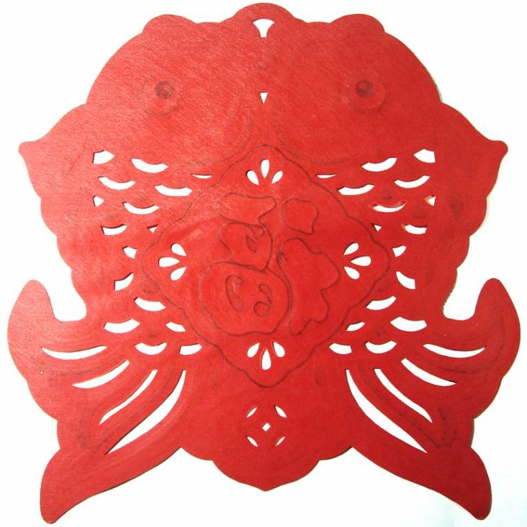 福鱼窗花剪纸图案图解