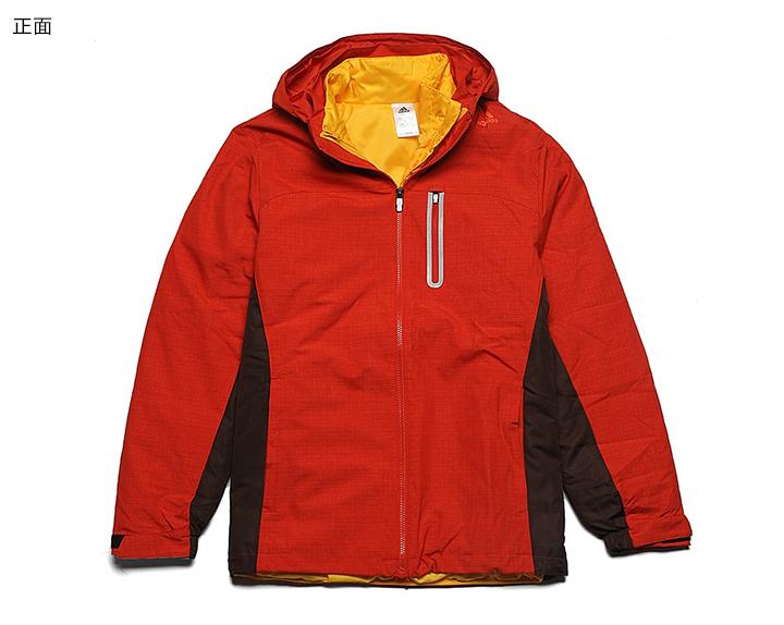 阿迪达斯红色棉外套