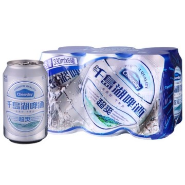 千岛湖 超爽啤酒 330ml*6罐/组