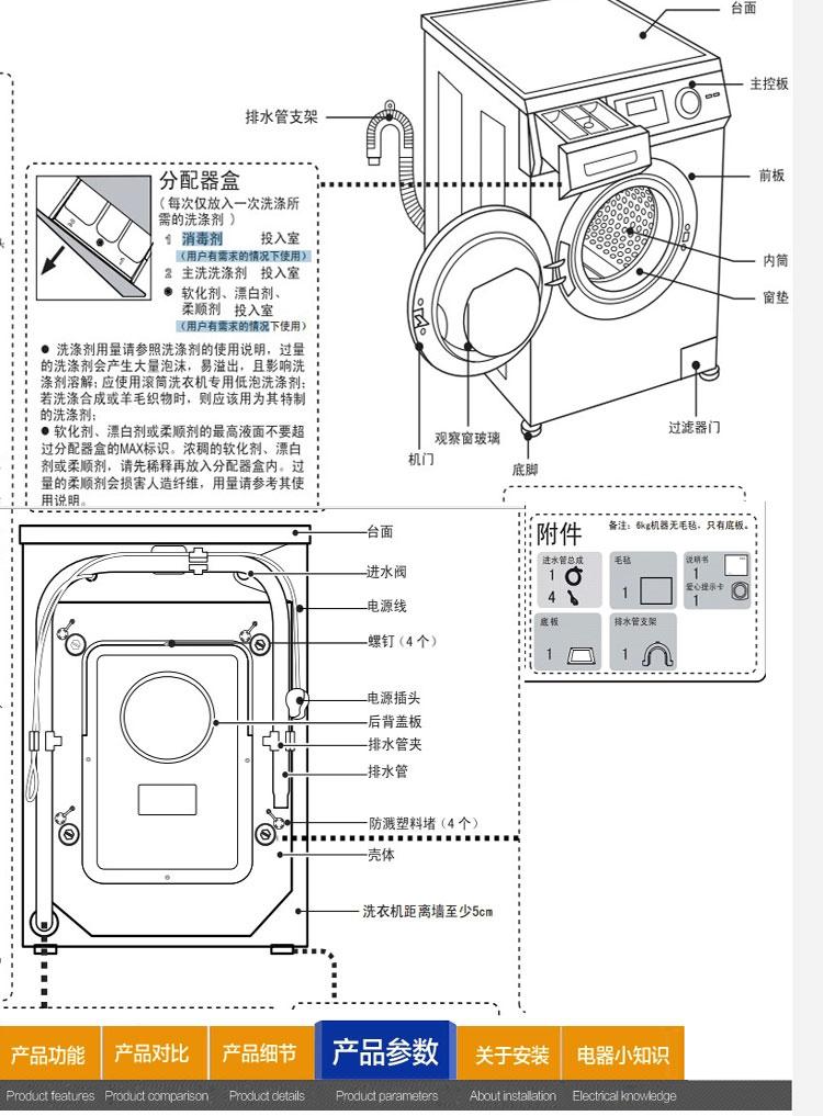 海尔滚筒洗衣机下水安装步骤图