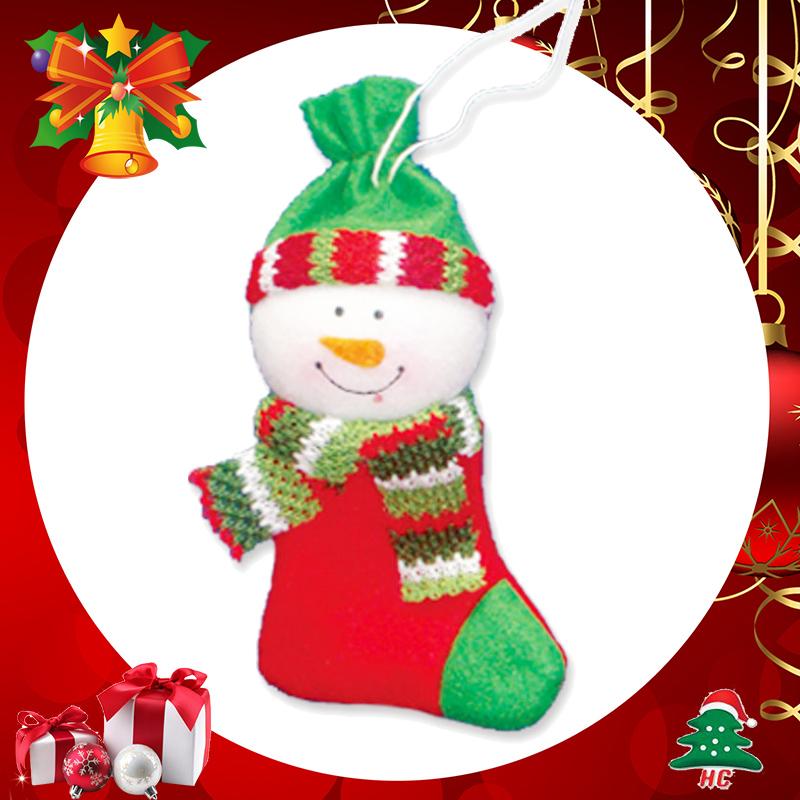 焕成 可爱布偶圣诞袜吊饰3种 x-5204 雪人