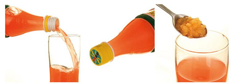 纯果乐鲜果粒热带美味饮料420ml/瓶