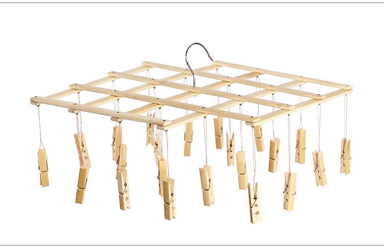 自制竹子晾衣架设计图