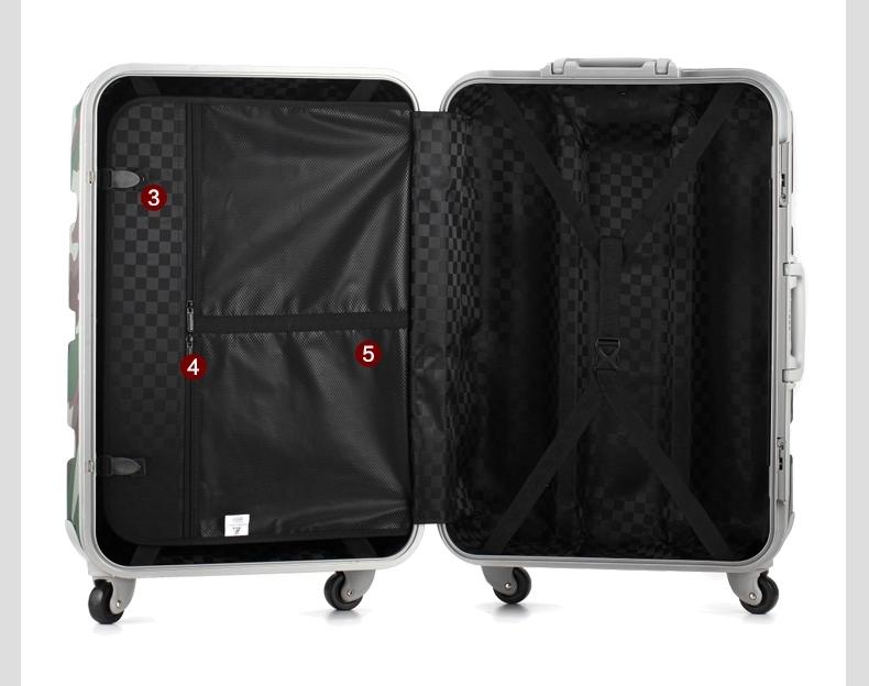 20寸拉杆箱包登机箱abs旅行箱铝框箱