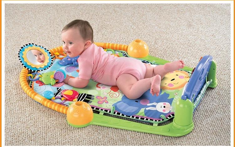 费雪琴琴健身器 婴儿健身架含音乐钢琴健身器w2621