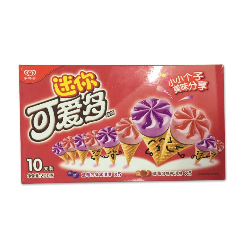 迷你可爱多 甜筒蓝莓&草莓口味冰淇淋