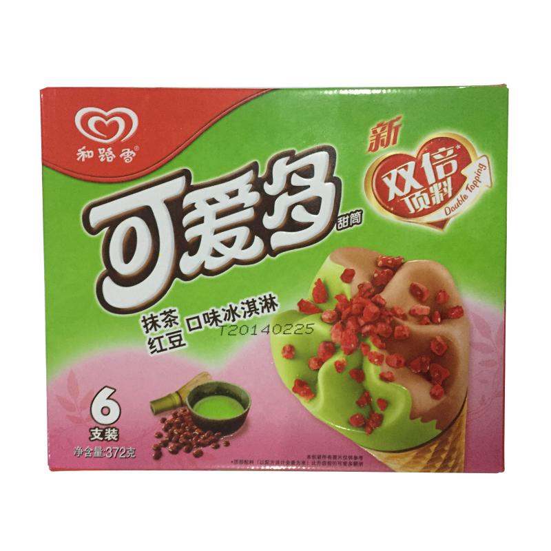 可爱多 甜筒抹茶红豆口味冰淇淋多支装