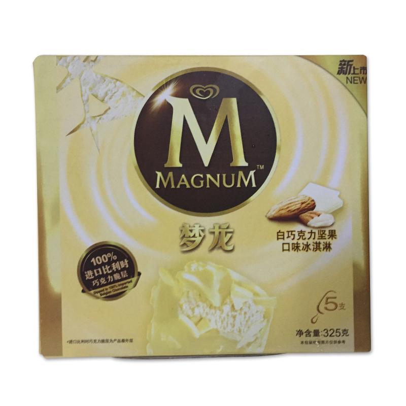 和路雪 梦龙白巧克力坚果口味冰淇淋 325克/盒图片