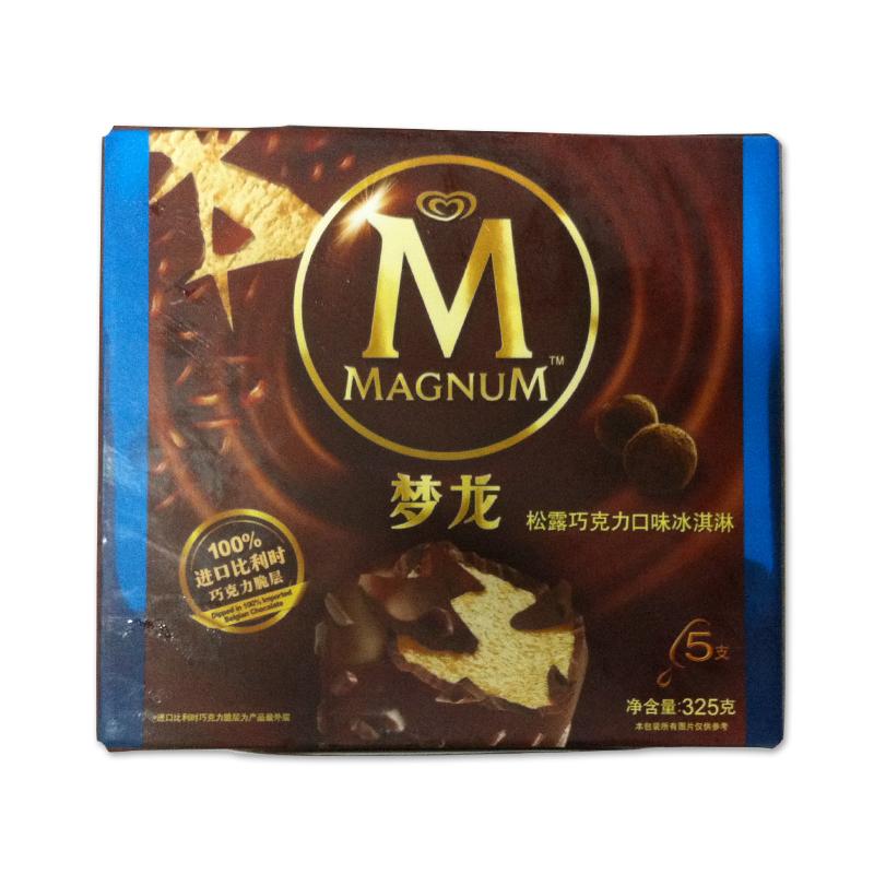 和路雪 梦龙松露巧克力口味冰淇淋 325克/盒图片