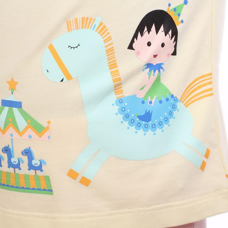 樱桃小丸子 童装 女童棉质俏皮可爱休闲短袖t恤 cg21a