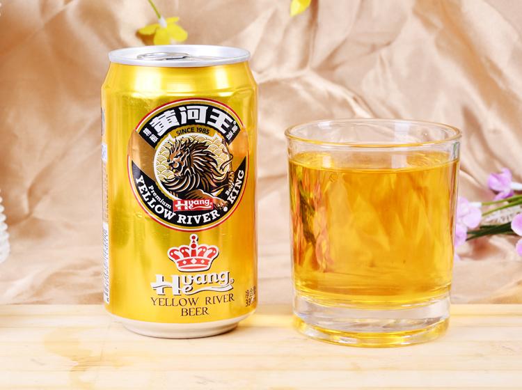 金罐黄河王啤酒330ml/听