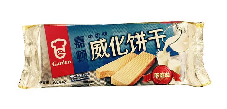 嘉顿 威化饼干(牛奶味)400g/包