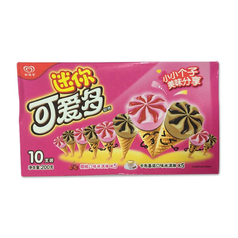迷你可爱多 甜筒樱桃卡布基诺口味冰淇淋 200g/盒