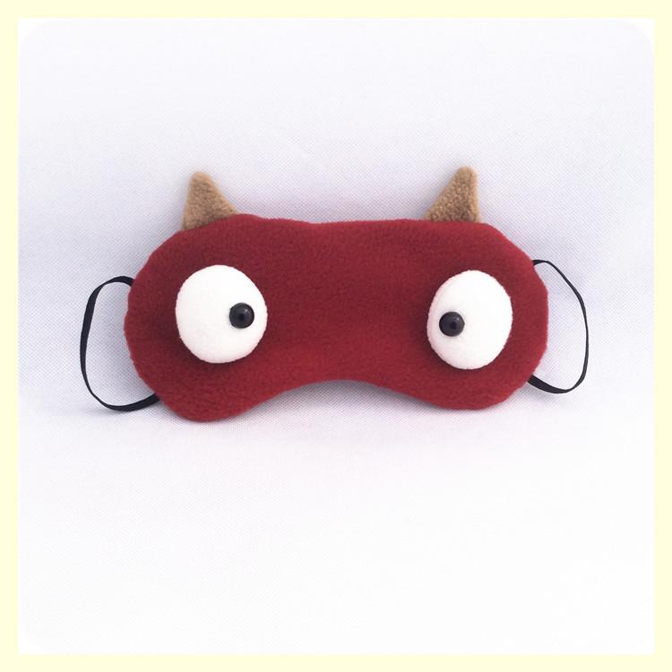 酷凯通cookietong 跑男同款眼罩 可爱搞怪遮光卡通纯棉冰敷冰凉眼罩 y
