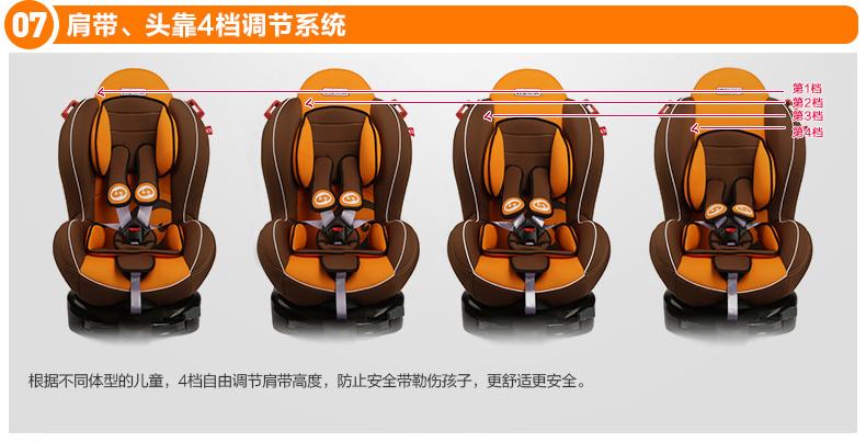 路途乐 儿童安全汽车座椅 汽车安全座椅 9个月-6岁 途