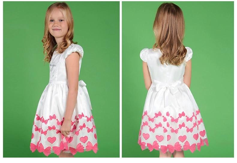 甜美女童连衣裙泡泡袖全棉半袖蝴蝶公主裙