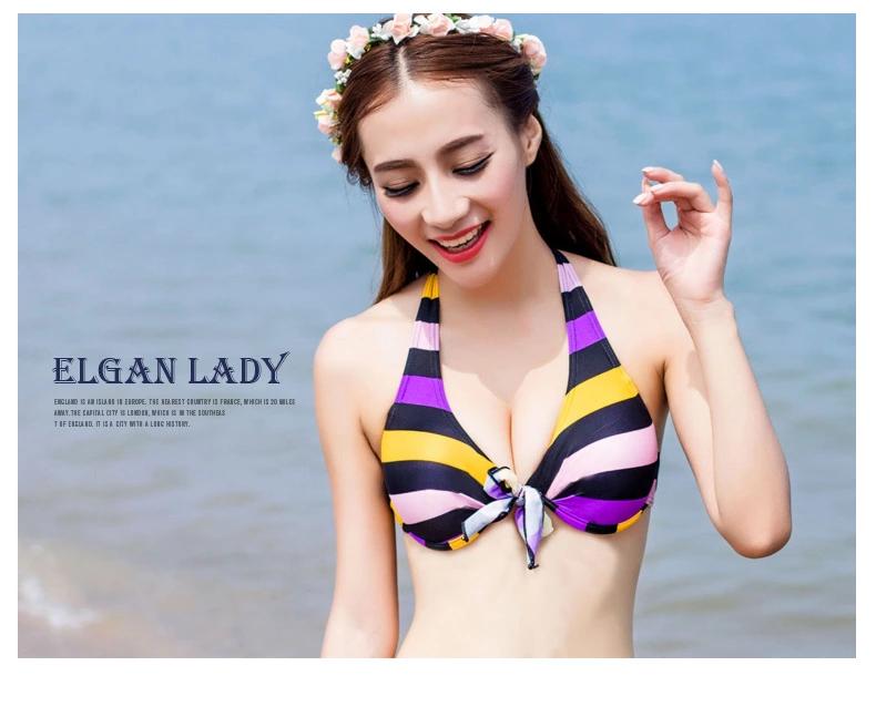 宜肤2015女学生 少女可爱新款泳衣比基尼分体裙式显瘦