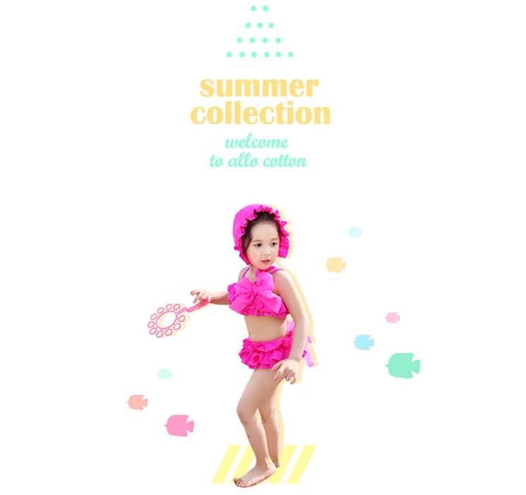 宜肤2015新款女童泳衣儿童分体裙式可爱新款韩版公主
