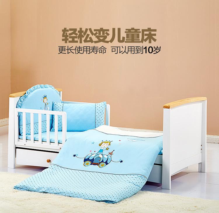 儿童床带护栏 欧式简约床