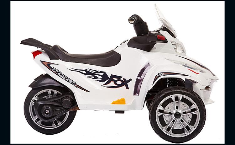 荟智(huizhi)儿童电动车三轮玩具汽车可坐小孩宝宝童车 法拉利红 hw