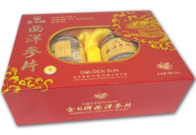 金日牌 西洋参片 2罐 68g 盒