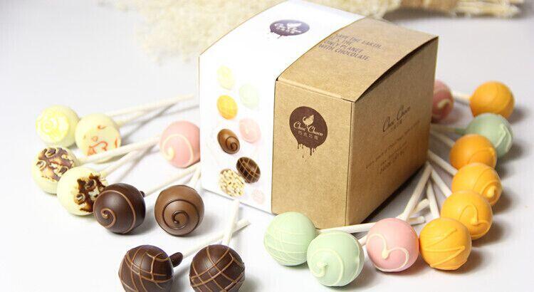 巧克巧蔻 巧克巧蔻橙味夹心巧克力棒棒糖10支装万圣节糖果礼盒送女