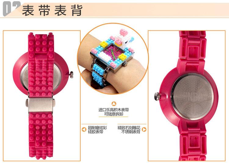 nba手表 正品运动电子表可拆卸乐高积木表带防水女士腕表naf20001 naf