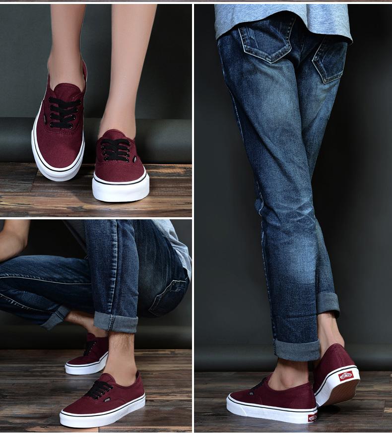 男鞋经典款帆布鞋低帮黑白女鞋情侣运动休闲
