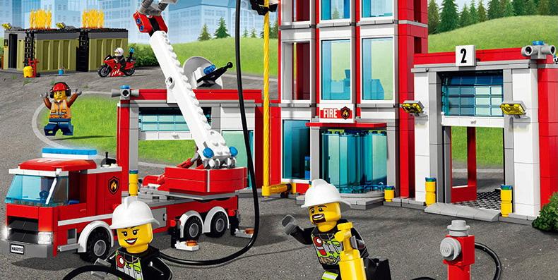 乐高 城市系列消防直升机组合lego