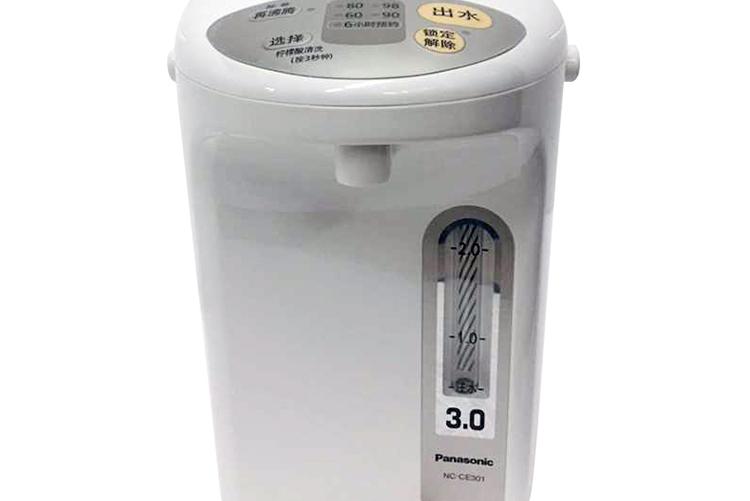 松下 电热水瓶四段保温备长炭防烫电热水壶