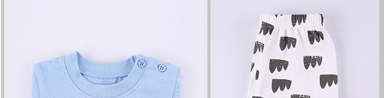 南极人 2016新款夏季婴儿女童短袖套装纯棉柔软舒适