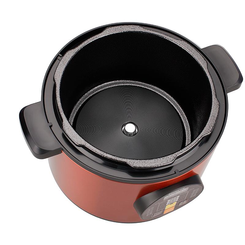povos/奔腾 ln584 电压力锅无水焗5l特价正品 咖啡色