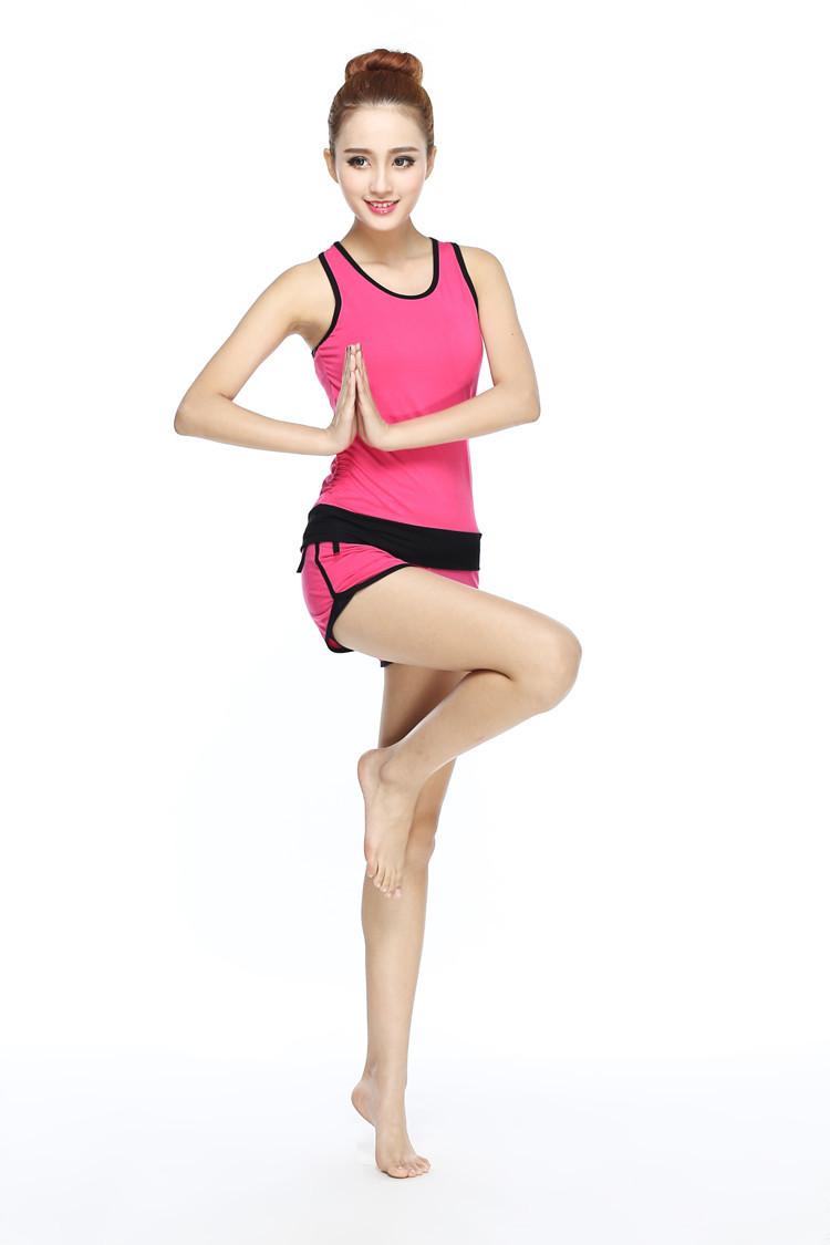 汐沁 高温瑜伽服套装春夏新款女健身跳操瑜珈服短裤瑜伽舞蹈服 xq-t