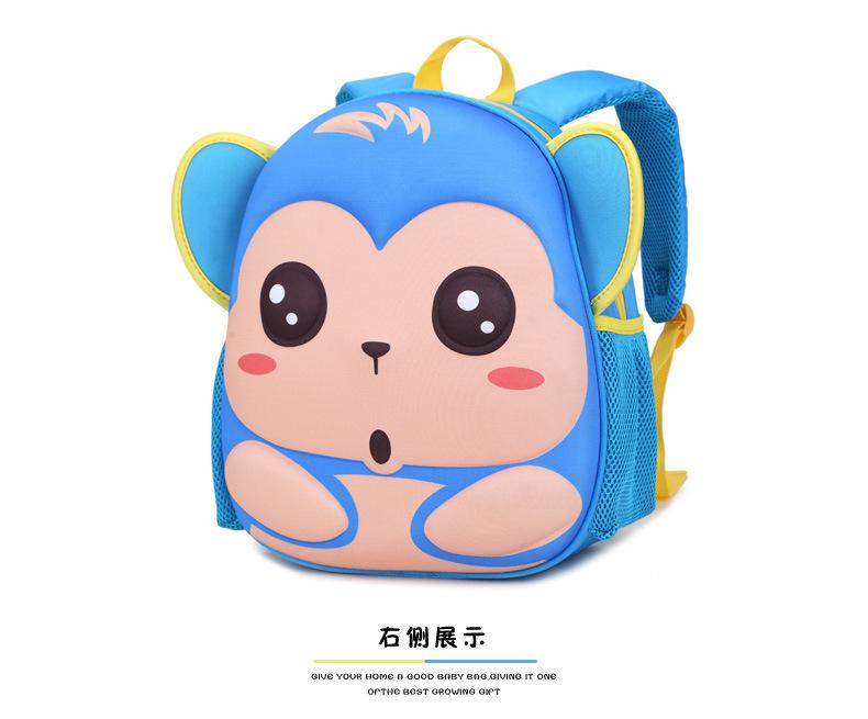 小学生1-2-3年级幼儿园书包双肩背包宝宝男女童可爱包包卡通韩版 猴子