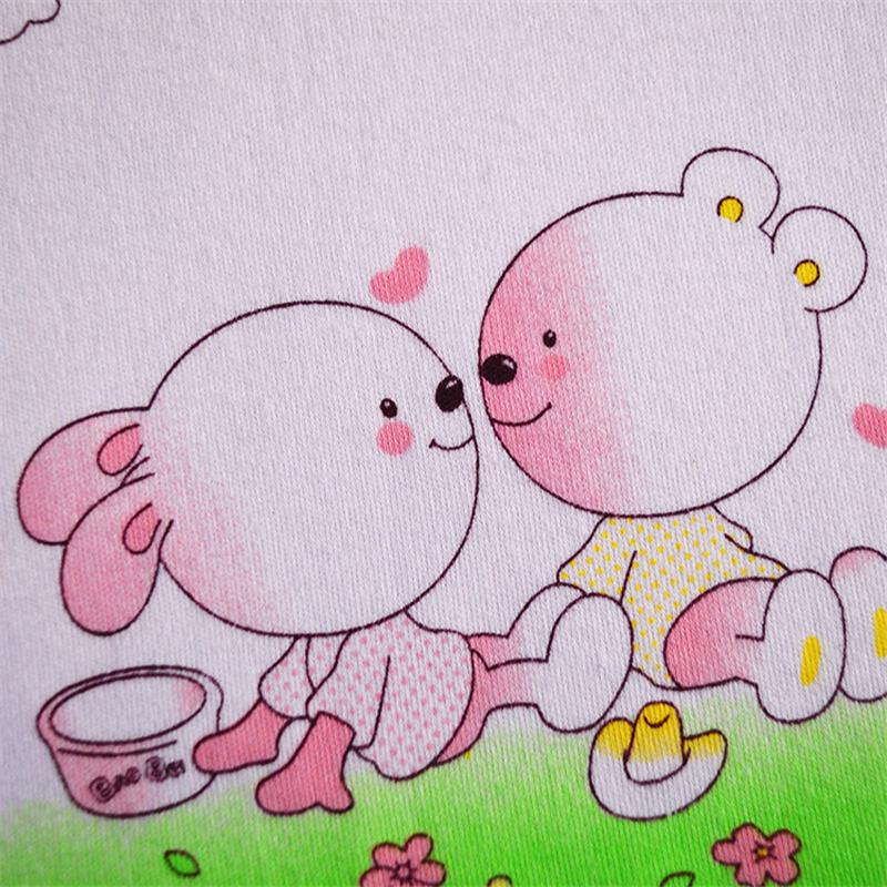 广伟 卡通可爱图案棉质婴幼儿口水巾小方巾围兜宝宝擦脸洗澡毛巾 三枚