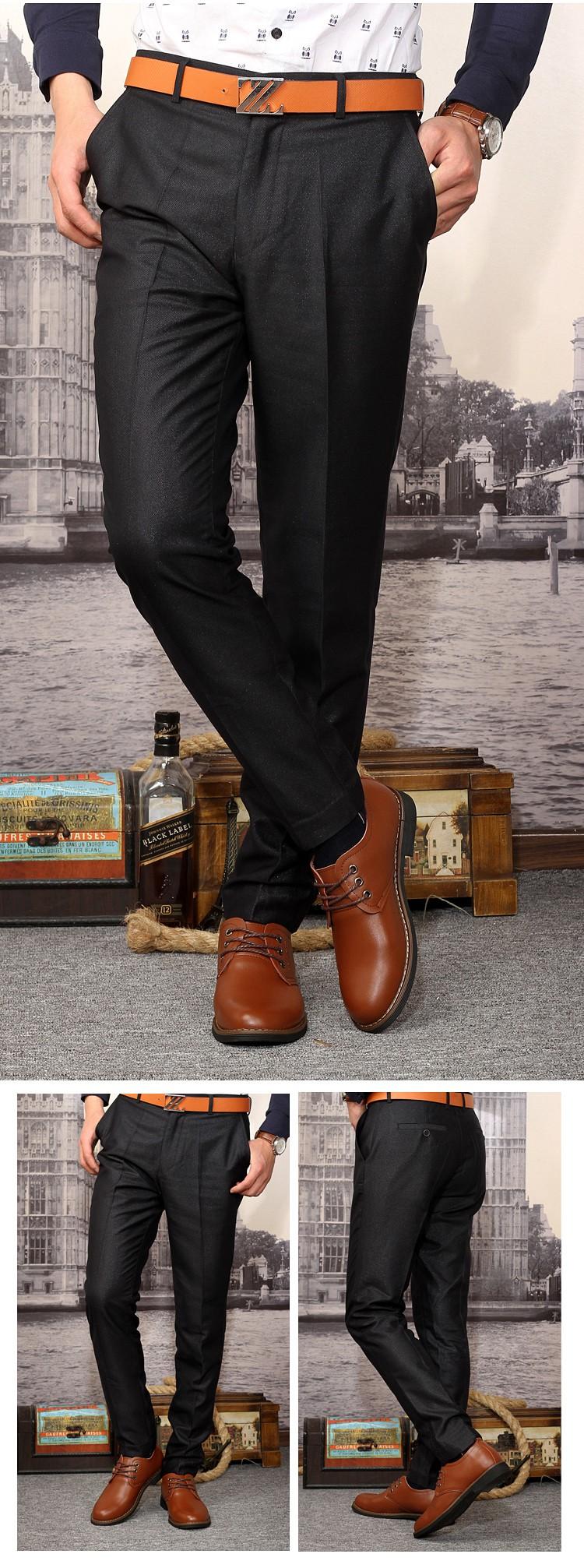 黑色皮鞋搭配牛仔图