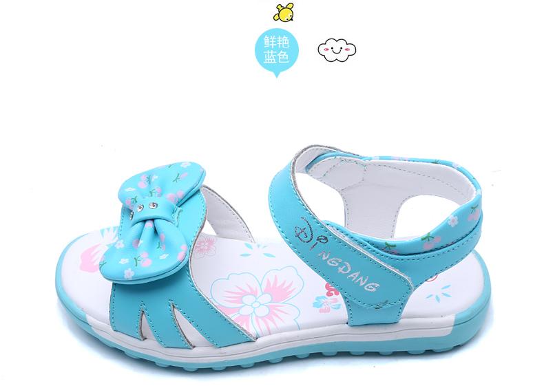 小叮当 儿童凉鞋女童公主鞋新款韩版简约公主鞋学生单